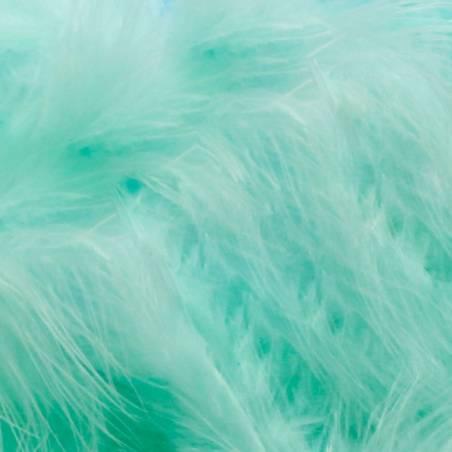 Plumes de dinde - Couleur vert eau