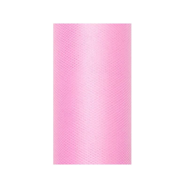 Tulle Uni rose pâle 0.3 x 9m