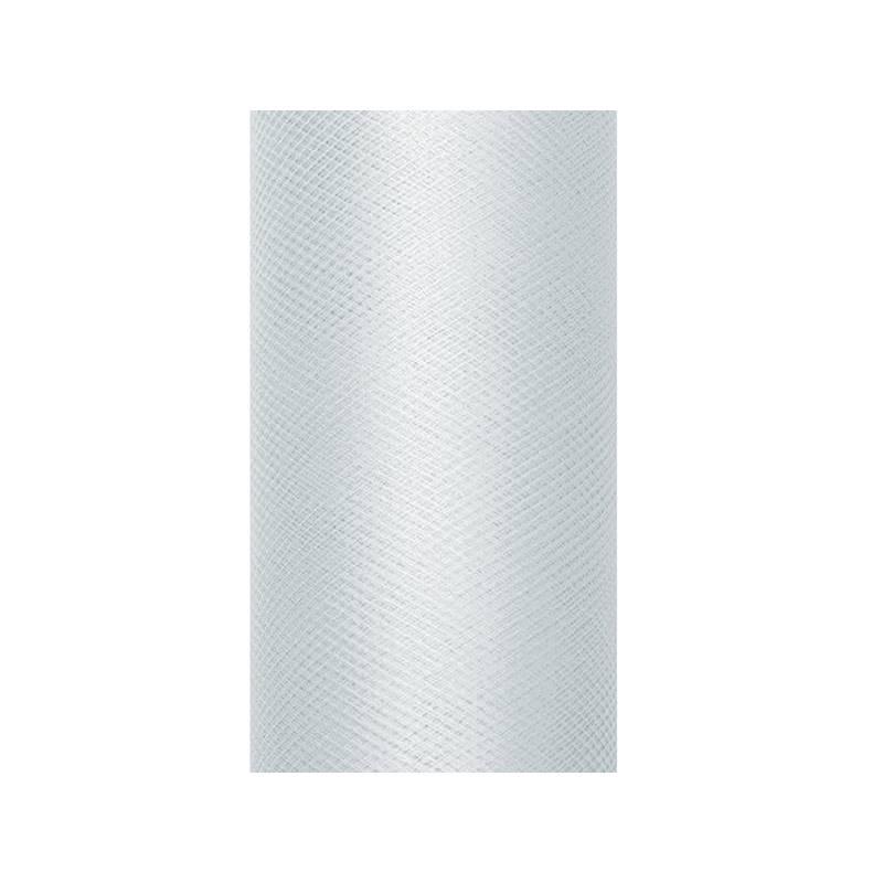 Tulle Uni gris 0.3 x 9m
