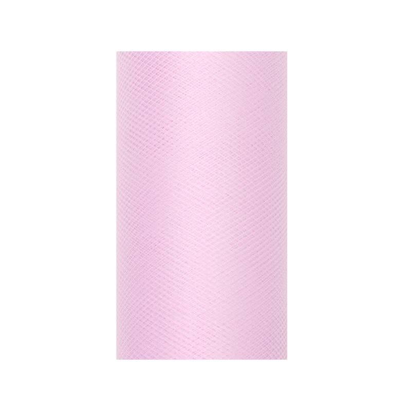 Tulle Uni rose clair 0.8 x 9m