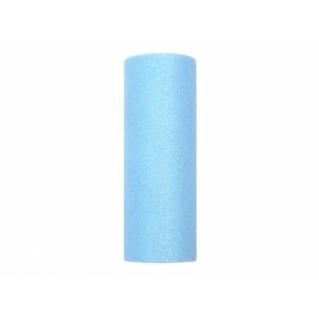 Tulle Glittery bleu ciel 015 x 9m