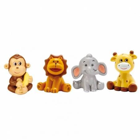 4 Figurines Animaux de la Savane