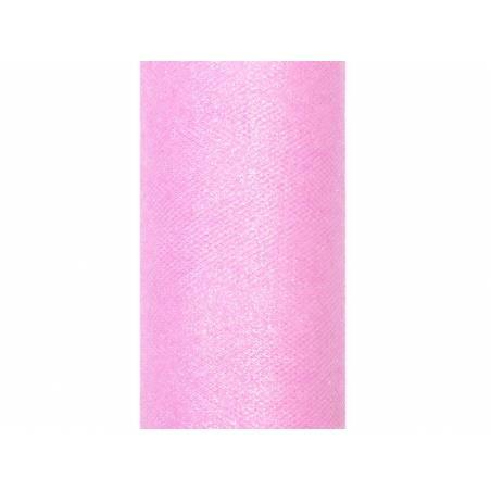 Tulle Pailleté rose pâle 015 x 9m