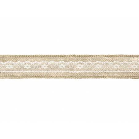 Bande de jute avec dentelle 5x500cm