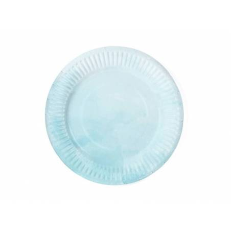 Assiettes d'été turquoise 18 cm