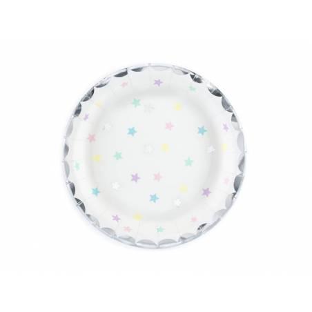 Assiettes Licorne - Etoiles 18 cm