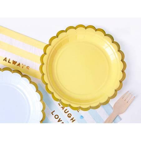 Assiettes jaune clair 18cm