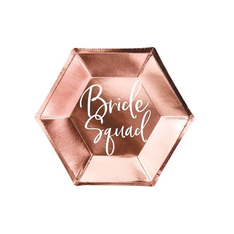 Équipe Plates Bride or rose 23cm