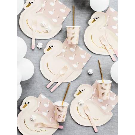 Assiettes Lovely Swan 235x225cm