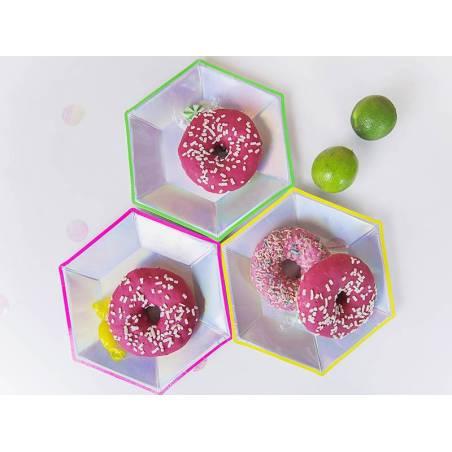 Assiettes Saint-Sylvestre mélange holographique 20 cm