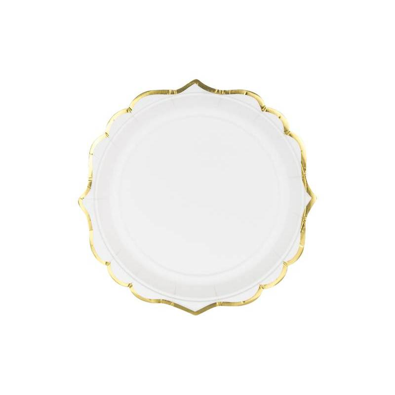 Assiettes blanches 185 cm