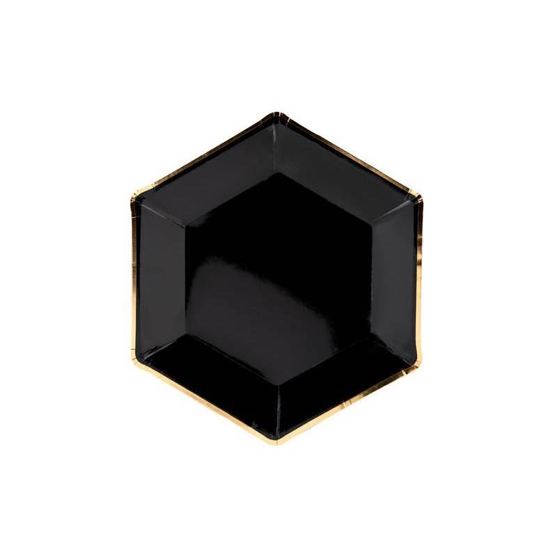 Assiettes Célébrons noir 23cm
