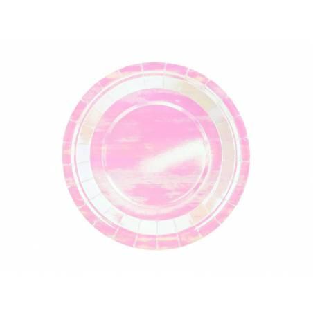 Assiettes rondes irisées 18 cm