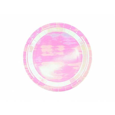 Assiettes rondes irisées 23 cm
