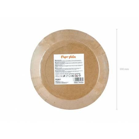 Assiettes rondes kraft 23 cm