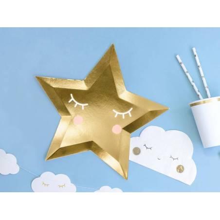 Assiettes Little Star - Star dorée 27cm