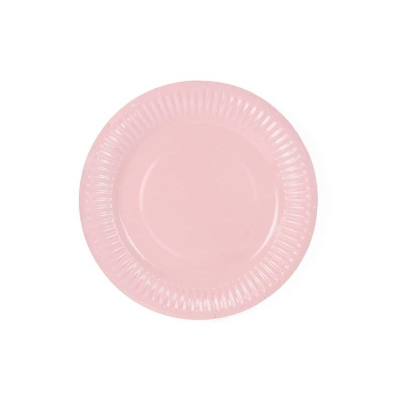 Assiettes rose poudré clair 18cm