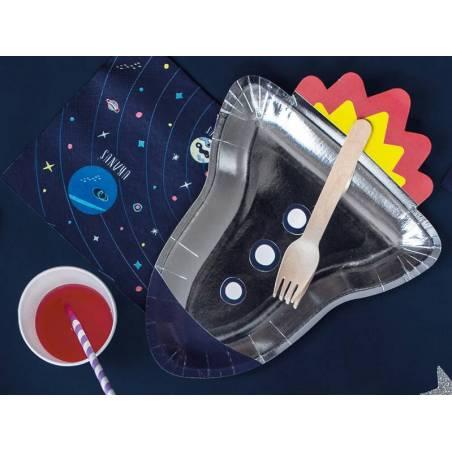 Assiettes en papier Space Party - Rocket 215x295cm.