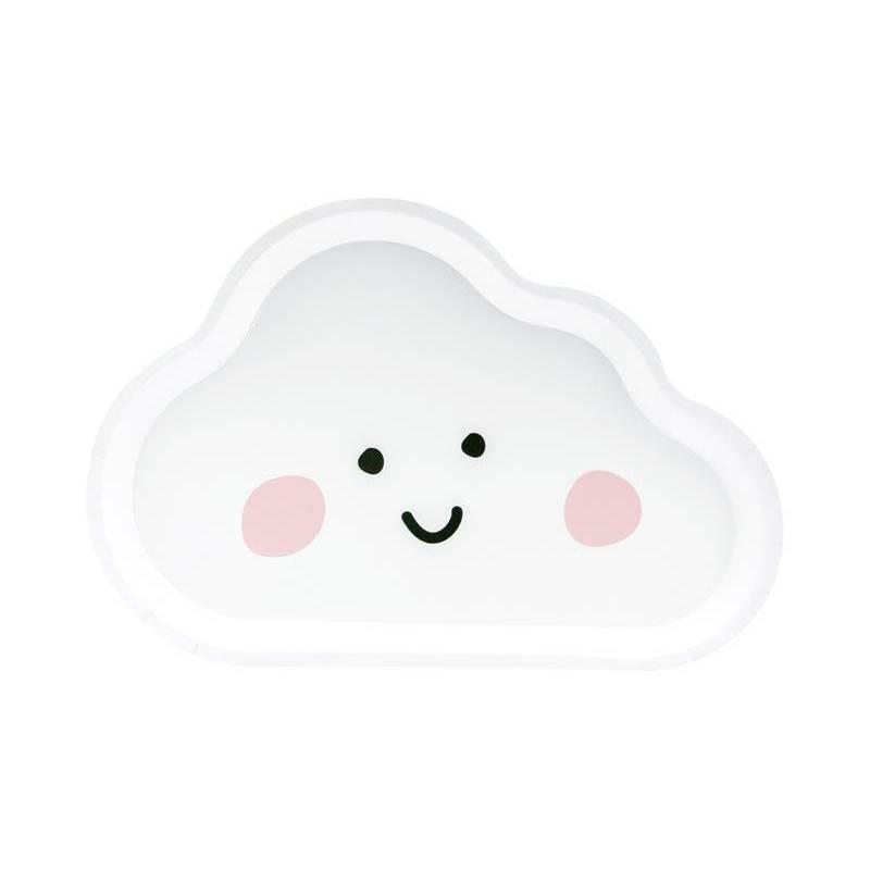 Assiettes Cloud blanches 26x17cm