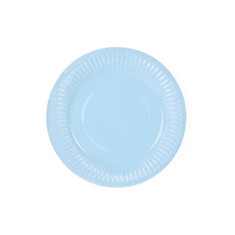 Assiettes bleu ciel clair 18cm