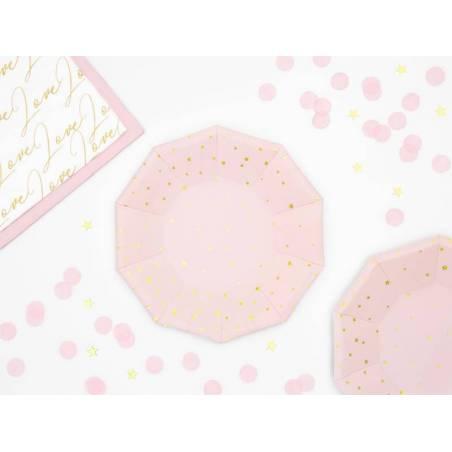 Assiettes étoiles rose pâle 18cm