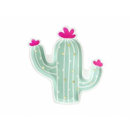Assiettes en papier Cactus mélange 23x24cm