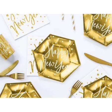 Assiettes bonne année or 20cm