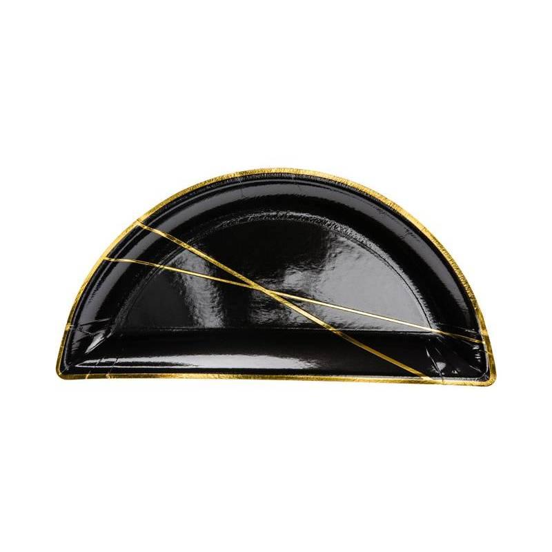 Assiettes noires 215x105cm
