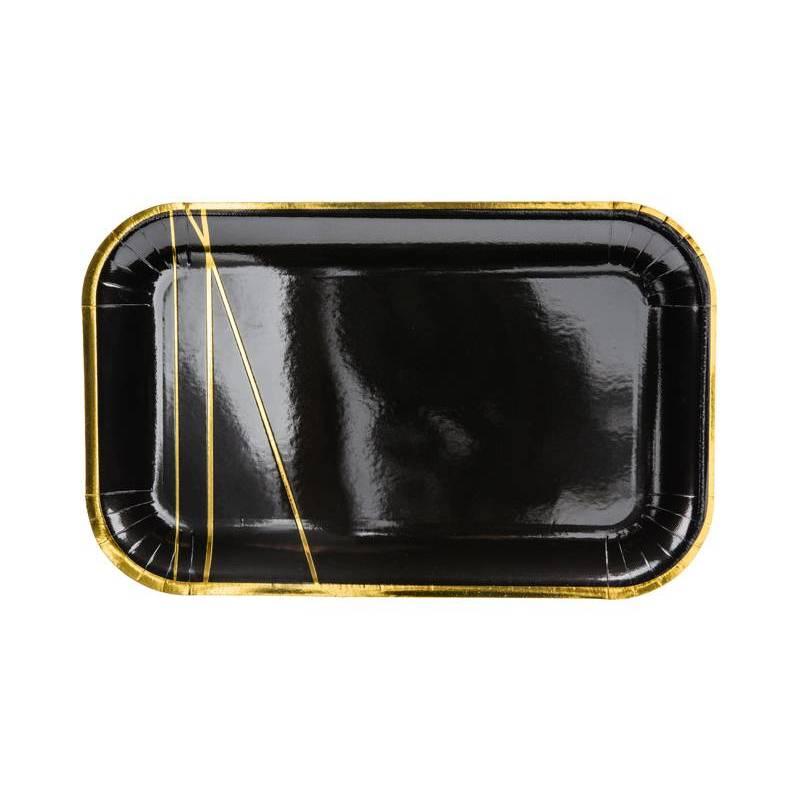 Assiettes noires 22x135cm