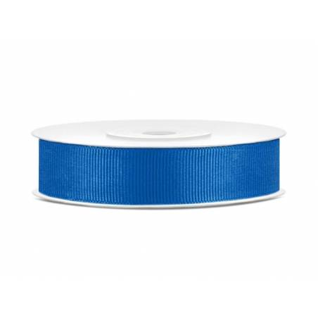 Ruban gros-grain bleu 15mm / 25m