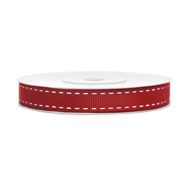 Ruban gros-grain rouge 15mm / 25m