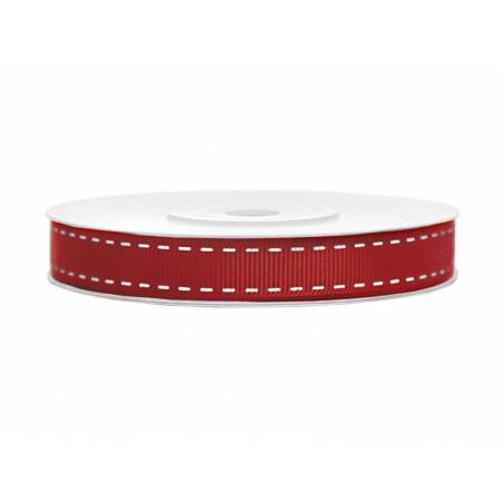 Ruban gros-grain rouge 15mm / 25m