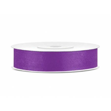 Ruban gros-grain violet 15mm / 25m