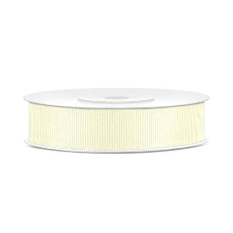 Ruban gros-grain crème légère 15mm / 25m