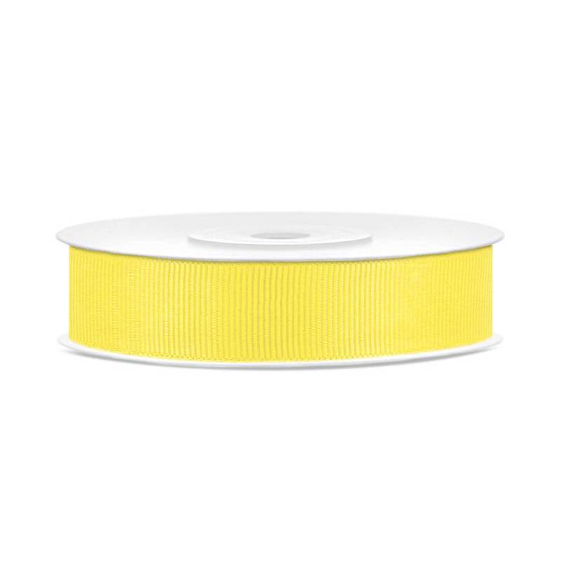 Ruban gros-grain jaune 15mm / 25m