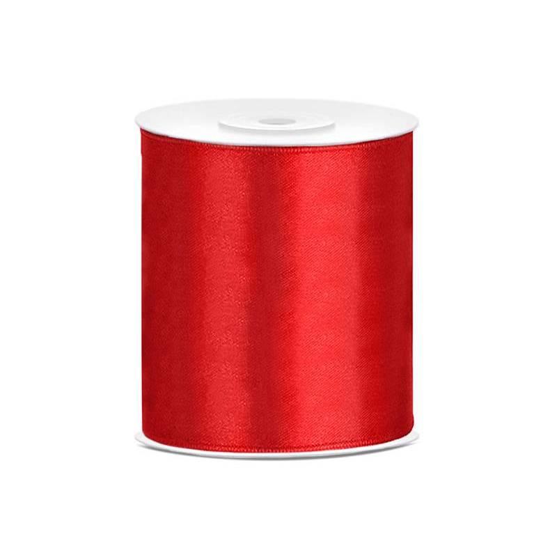 Ruban Satin rouge 100mm / 25m