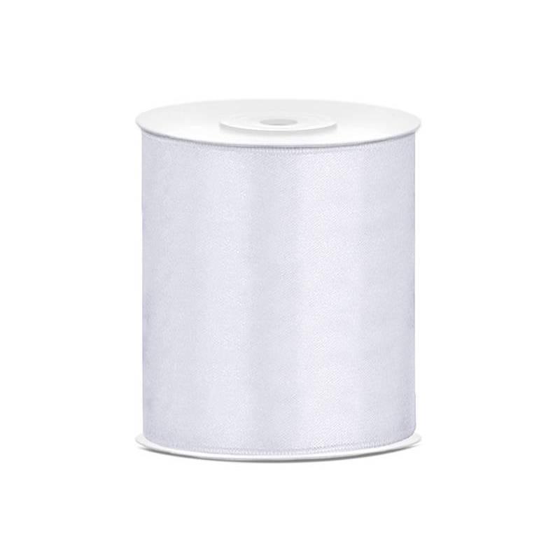 Ruban Satin blanc 100mm / 25m