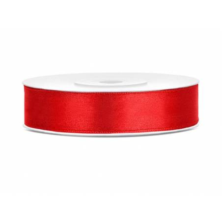 Ruban Satin rouge 12mm / 25m