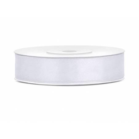 Ruban Satin blanc 12mm / 25m