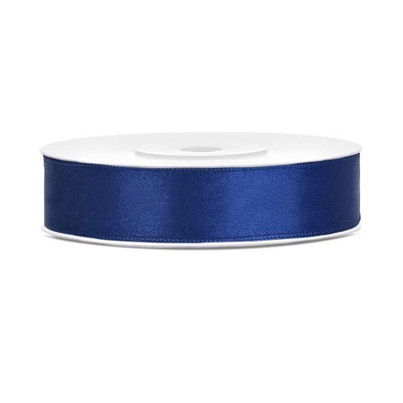 Ruban Satin bleu marine 12mm / 25m