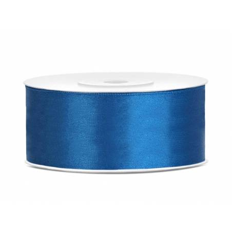 Ruban Satin bleu 25mm / 25m