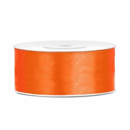 Ruban Satin orange 25mm / 25m