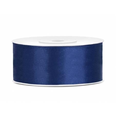Ruban Satin bleu marine 25mm / 25m