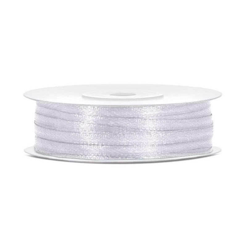 Ruban Satin blanc 3mm / 50m