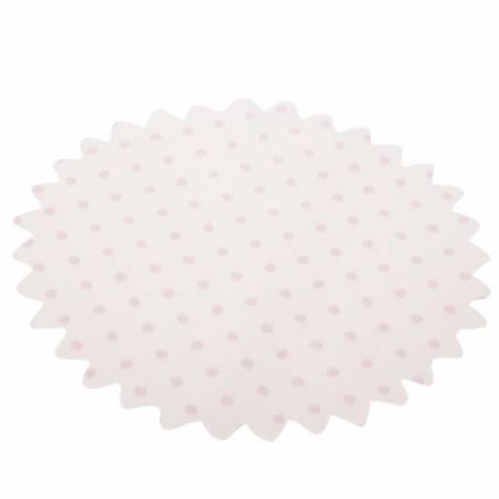 25 Tulles blancs à pois - Couleur rose