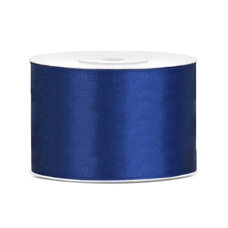 Ruban Satin bleu marine 50mm / 25m