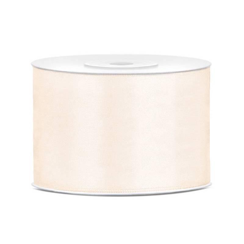 Ruban Satin crème légère 50mm / 25m