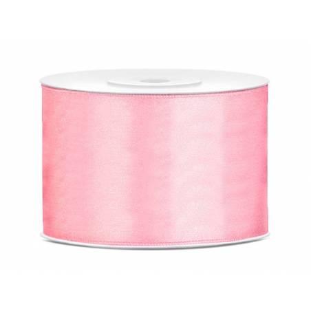 Ruban Satin rose pâle 50mm / 25m