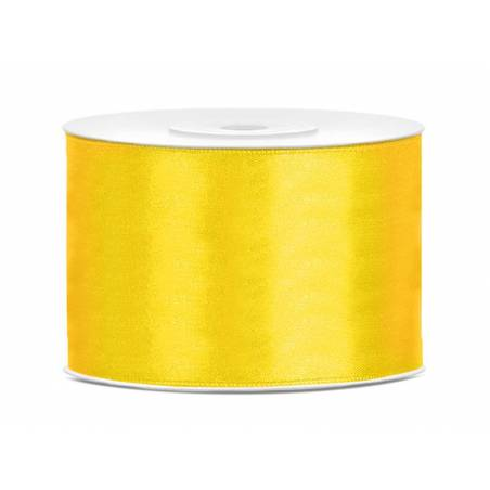 Ruban Satin jaune 50mm / 25m