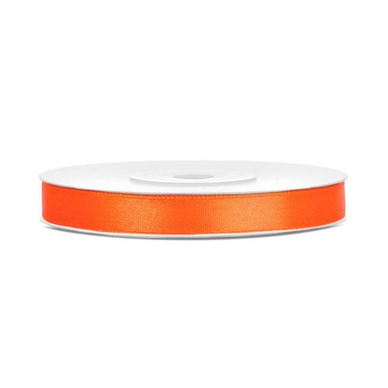 Ruban Satin orange 6mm / 25m